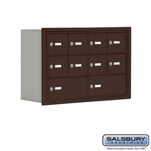 Salsbury Industries Cell Phone Storage Locker - 3 Door High Unit (8 Inch Deep Compartments) - 8 A Doors and 2 B Doors - Bronze - Recessed Mounted - at Sears.com