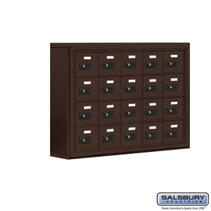 Salsbury Industries Cell Phone Storage Locker - 4 Door High Unit (5 Inch Deep Compartments) - 20 A Doors - Bronze - Surface Mounted - Resettable Com at Sears.com