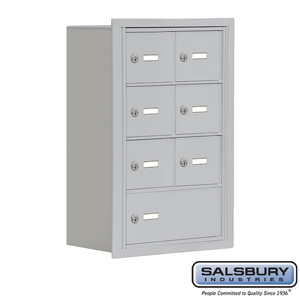 Salsbury Industries Cell Phone Storage Locker - 4 Door High Unit (8 Inch Deep Compartments) - 6 A Doors and 1 B Door - Aluminum - Recessed Mounted - at Sears.com