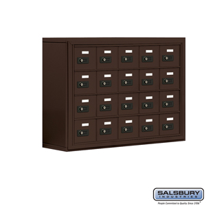 Salsbury Industries Cell Phone Storage Locker - 4 Door High Unit (8 Inch Deep Compartments) - 20 A Doors - Bronze - Surface Mounted - Resettable Com at Sears.com