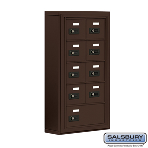 Salsbury Industries Cell Phone Storage Locker - 5 Door High Unit (5 Inch Deep Compartments) - 8 A Doors and 1 B Door - Bronze - Surface Mounted - Re at Sears.com