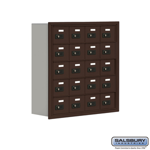 Salsbury Industries Cell Phone Storage Locker - 5 Door High Unit (8 Inch Deep Compartments) - 20 A Doors - Bronze - Recessed Mounted - Resettable Co at Sears.com