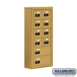 Salsbury Industries Cell Phone Storage Locker - 6 Door High Unit (5 Inch Deep Compartments) - 8 A Doors and 2 B Doors - Gold - Surface Mounted - Res at Sears.com