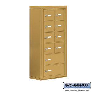Salsbury Industries Cell Phone Storage Locker - 6 Door High Unit (8 Inch Deep Compartments) - 8 A Doors and 2 B Doors - Gold - Surface Mounted - Mas at Sears.com