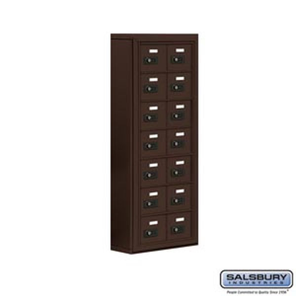 Salsbury Industries Cell Phone Storage Locker - 7 Door High Unit (5 Inch Deep Compartments) - 14 A Doors - Bronze - Surface Mounted - Resettable Com at Sears.com