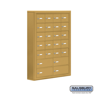 Salsbury Industries Cell Phone Storage Locker - 7 Door High Unit (5 Inch Deep Compartments) - 20 A Doors and 4 B Doors - Gold - Surface Mounted - Ma at Sears.com