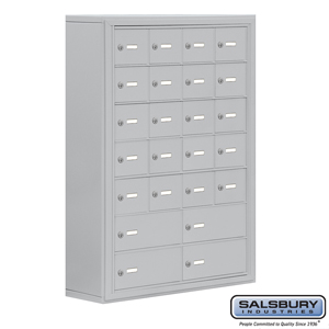Salsbury Industries Cell Phone Storage Locker - 7 Door High Unit (8 Inch Deep Compartments) - 20 A Doors and 4 B Doors - Aluminum - Surface Mounted at Sears.com