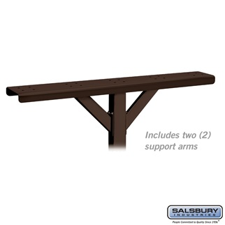 Spreader - 5 Wide with 2 Supporting Arms - for Rural Mailboxes and Townhouse Mailboxes - Bronze