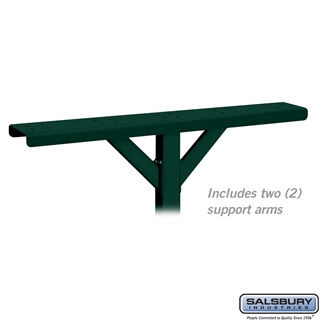 Spreader - 5 Wide with 2 Supporting Arms - for Rural Mailboxes and Townhouse Mailboxes - Green