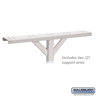 Spreader - 5 Wide with 2 Supporting Arms - for Rural Mailboxes and Townhouse Mailboxes - White