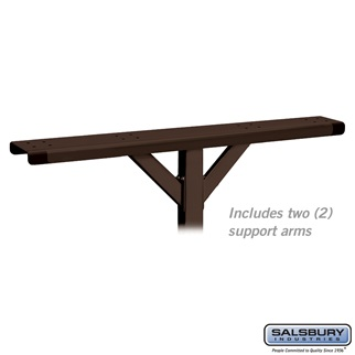 Spreader - 4 Wide with 2 Supporting Arms - for Designer Roadside Mailboxes - Bronze