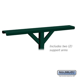 Spreader - 4 Wide with 2 Supporting Arms - for Roadside Mailboxes - Green