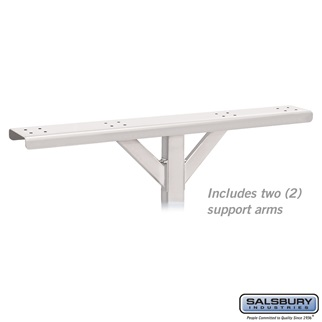 Spreader - 4 Wide with 2 Supporting Arms - for Roadside Mailboxes - White