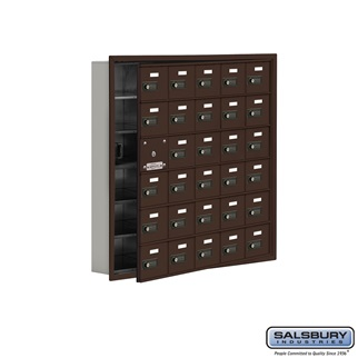 Salsbury Industries Cell Phone Storage Locker with Front Access Panel - 6 Door High Unit (5 Inch Deep Comparts.) - 30 A Doors (29 usable) - Bronze at Sears.com
