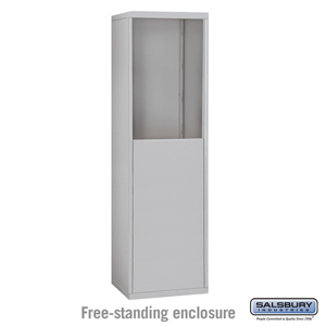 Free-Standing Enclosure for #19055-15 and #19058-15 - Recessed Mounted Cell Phone Lockers - Aluminum