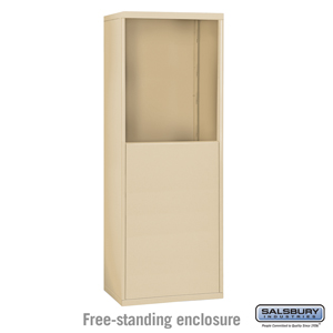 Salsbury Industries Free-Standing Enclosure for #19055-10, #19058-10, #19055-16, #19058-16, #19055-20 and #19058-20 - Recessed Mounted Cell Phone Lo at Sears.com