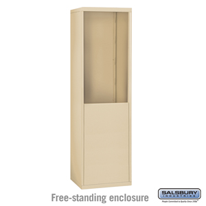 Salsbury Industries Free-Standing Enclosure for #19065-18 and #19068-18 - Recessed Mounted Cell Phone Lockers - Sandstone at Sears.com