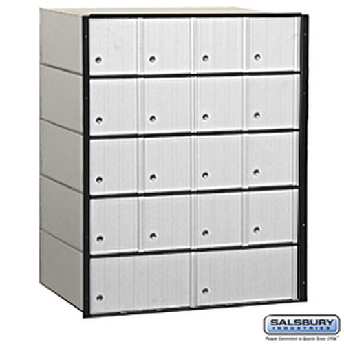 Aluminum Mailbox - 18 Doors - Standard System