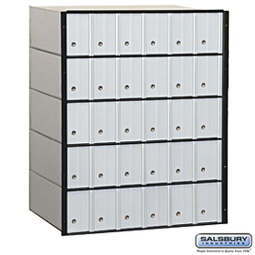 Aluminum Mailbox - 30 Doors - Standard System