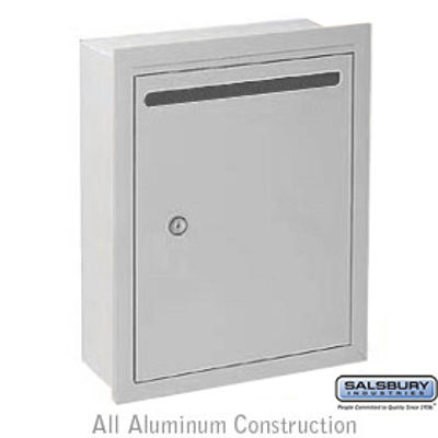 Letter Box - Standard - Recessed Mounted - Aluminum - USPS Access