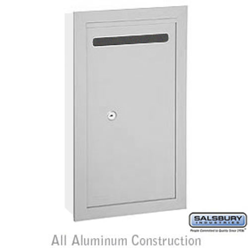 Letter Box (Includes Commercial Lock) - Slim - Recessed Mounted - Aluminum - Private Access