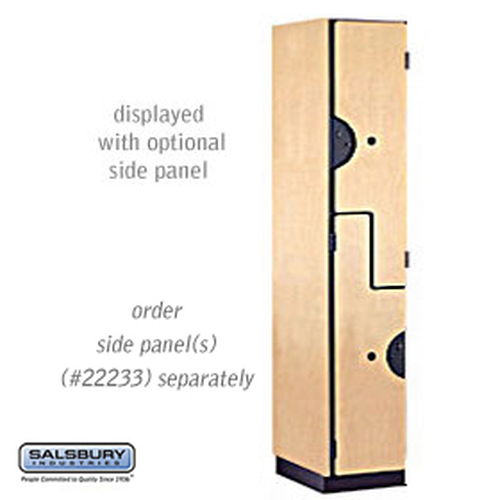 "Extra Wide Designer Wood Locker - Double Tier ""S"" Style - 1 Wide - 6 Feet High - 18 Inches Deep - Maple"