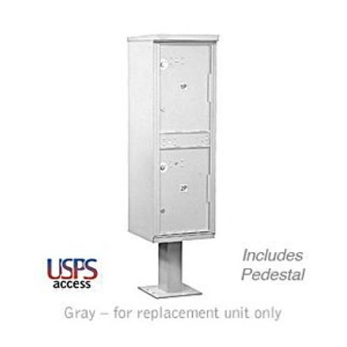 Outdoor Parcel Locker (Includes Pedestal) - 2 Compartments - Gray - USPS Access