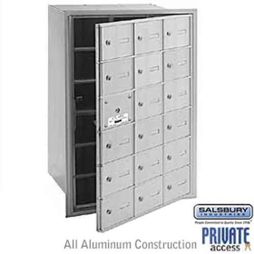 4B+ Horizontal Mailbox (Includes Master Commercial Lock) - 18 A Doors (17 usable) - Aluminum - Front Loading - Private Access