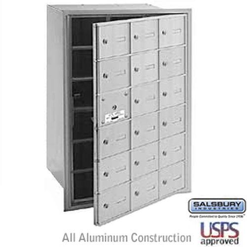 4B+ Horizontal Mailbox - 18 A Doors (17 usable) - Aluminum - Front Loading - USPS Access