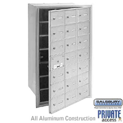 4B+ Horizontal Mailbox (Includes Master Commercial Lock) - 21 A Doors (20 usable) - Aluminum - Front Loading - Private Access