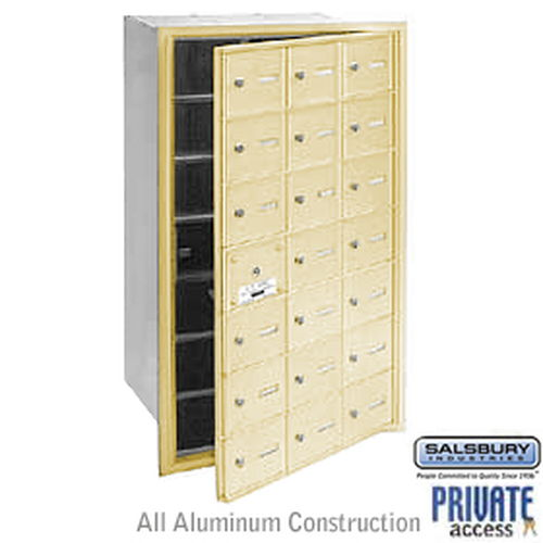4B+ Horizontal Mailbox (Includes Master Commercial Lock) - 21 A Doors (20 usable) - Sandstone - Front Loading - Private Access
