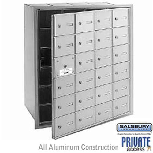 4B+ Horizontal Mailbox (Includes Master Commercial Lock) - 24 A Doors (23 usable) - Aluminum - Front Loading - Private Access