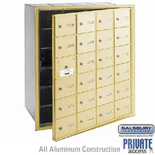 4B+ Horizontal Mailbox (Includes Master Commercial Lock) - 24 A Doors (23 usable) - Sandstone - Front Loading - Private Access