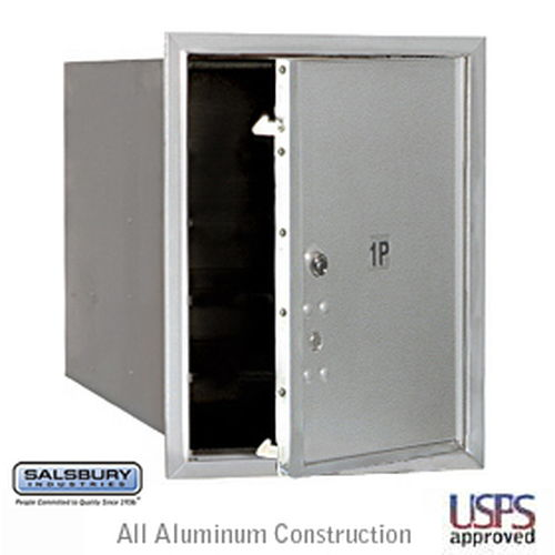 4C Horizontal Mailbox - 5 Door High Unit - Single Column - Stand-Alone Parcel Locker - Aluminum - Front Loading - USPS Access
