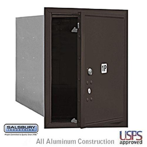4C Horizontal Mailbox - 5 Door High Unit - Single Column - Stand-Alone Parcel Locker - Bronze - Front Loading - USPS Access