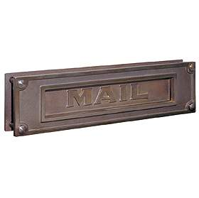 Mail Slot - Deluxe - Solid Brass - Antique Finish