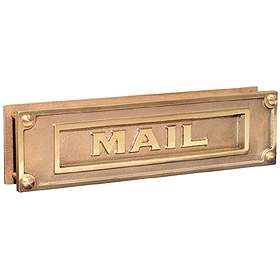 Mail Slot - Deluxe - Solid Brass - Brass Finish