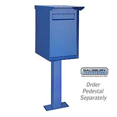 Pedestal Drop Box - Regular - Blue