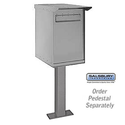 Pedestal Drop Box - Regular - Gray