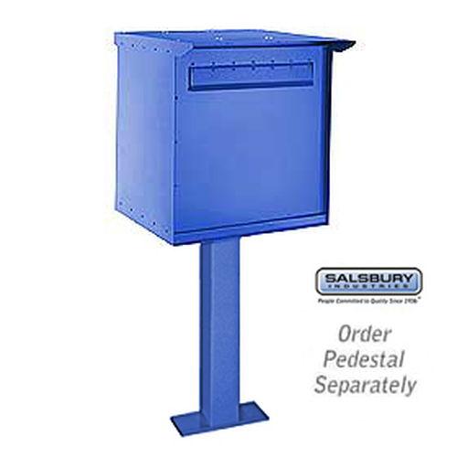 Pedestal Drop Box - Large - Blue
