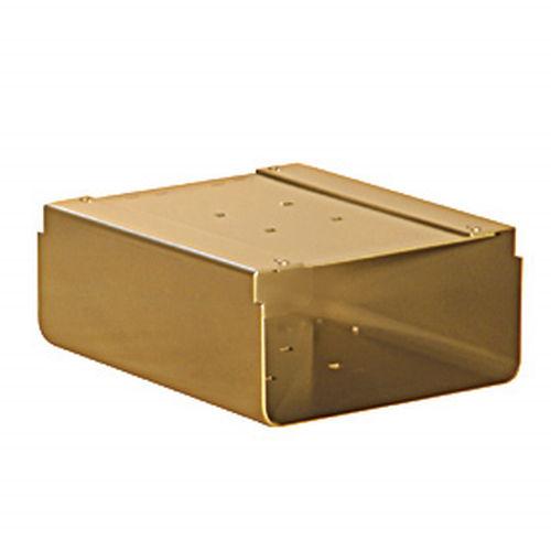 Newspaper Holder - for Designer Roadside Mailbox - Brass