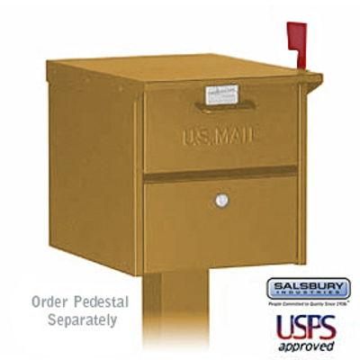 Designer Roadside Mailbox - Brass