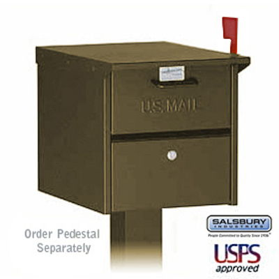 Designer Roadside Mailbox - Bronze