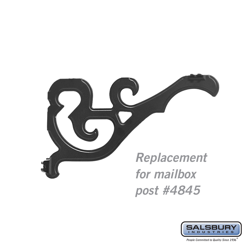 Arm Kit - Replacement for Decorative Mailbox Post - Victorian - Black