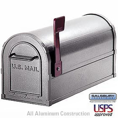 Deluxe Rural Mailbox - Pewter