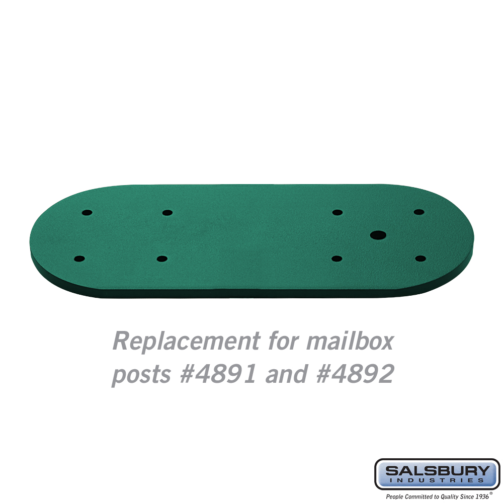 Arm Kit - Replacement for Classic Mailbox Post - 2 Sided - Green