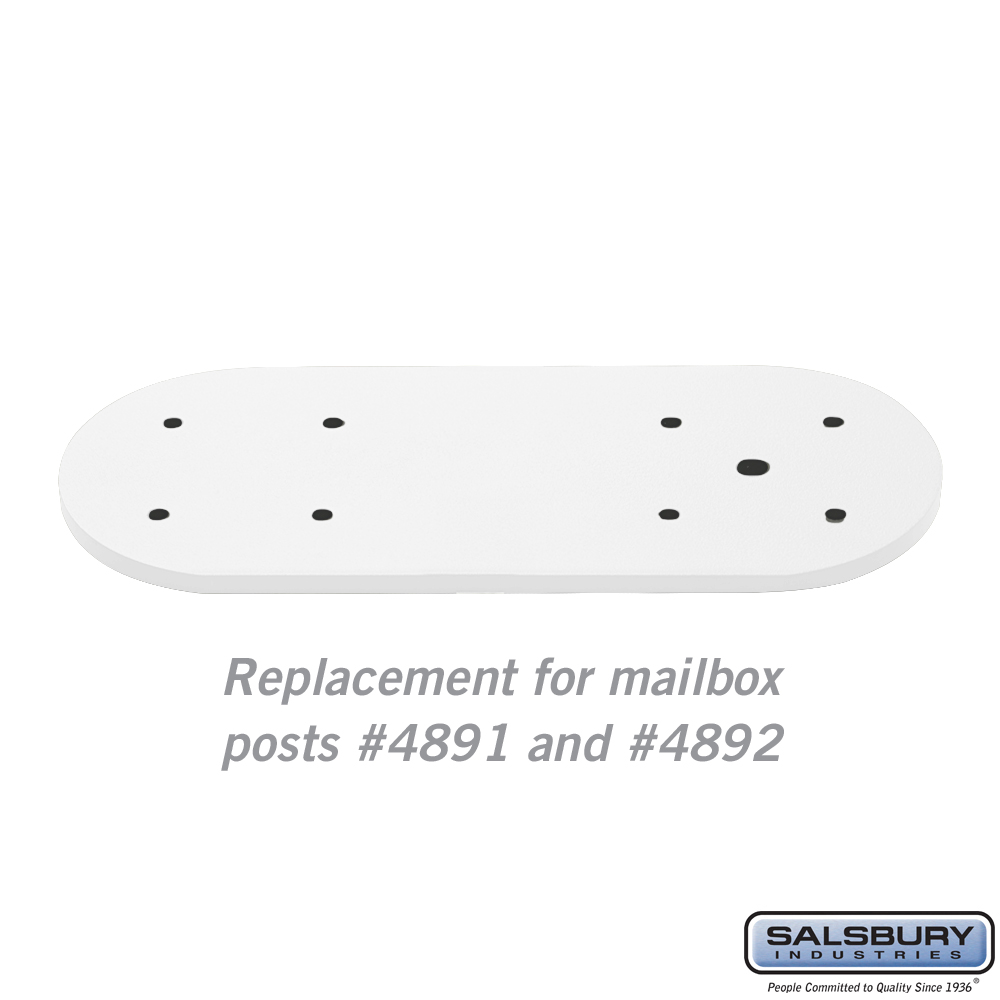 Arm Kit - Replacement for Classic Mailbox Post - 2 Sided - White
