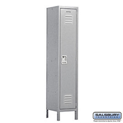 Extra Wide Standard Metal Locker - Single Tier - 1 Wide - 6 Feet High - 18 Inches Deep - Gray - Assembled
