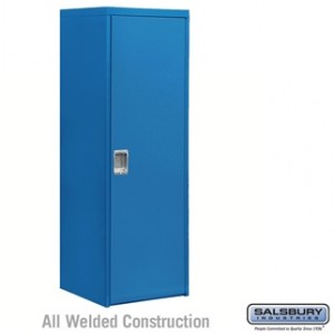 Welded Industrial Storage Cabinet - Single Door - 72 Inches High - 24 Inches Deep - Blue