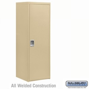 Welded Industrial Storage Cabinet - Single Door - 72 Inches High - 24 Inches Deep - Tan